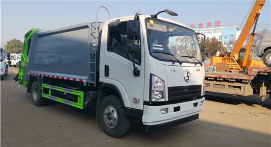 陕汽8方压缩式垃圾车