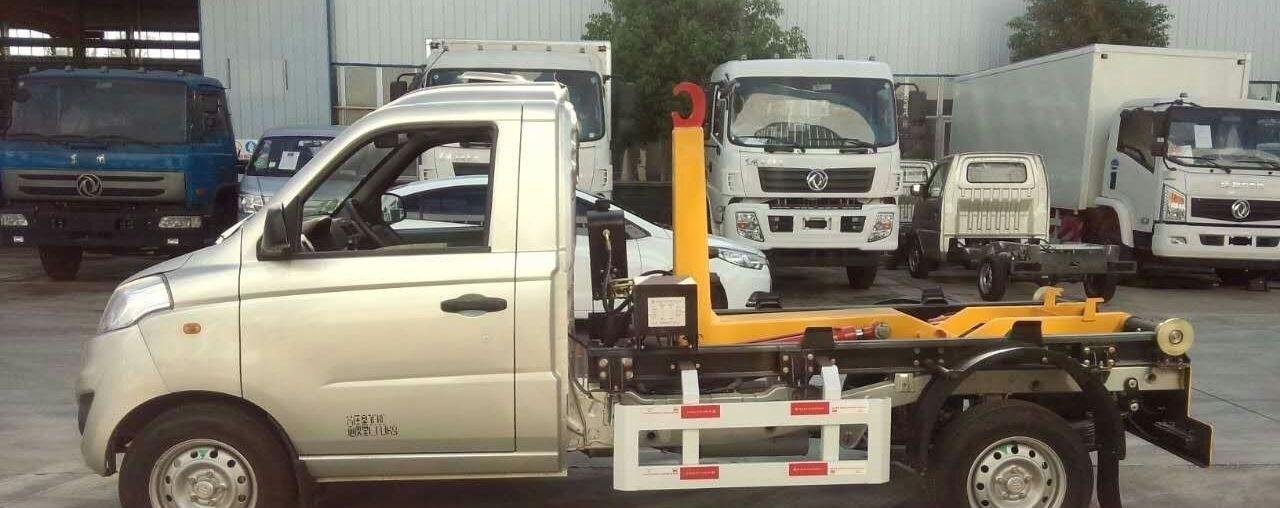 福田3-4方勾臂式垃圾车