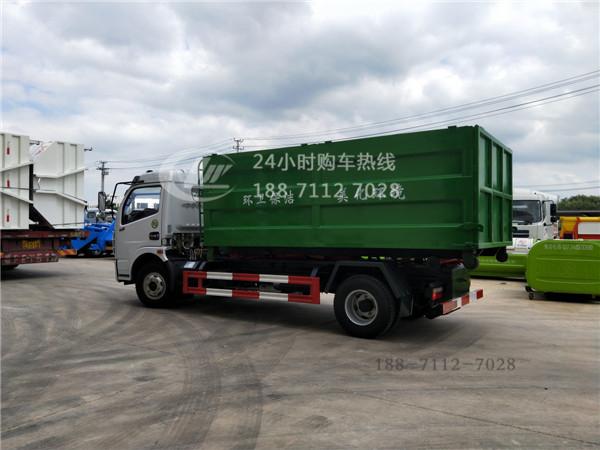 东风8方勾臂式垃圾车