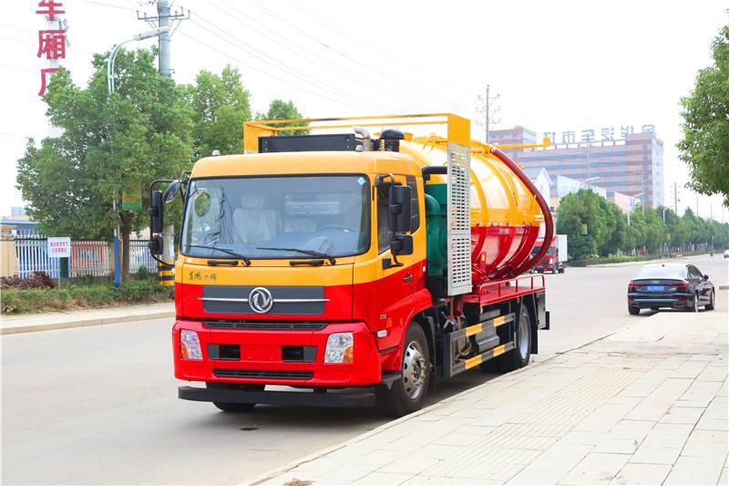国六东风天锦清洗吸污车