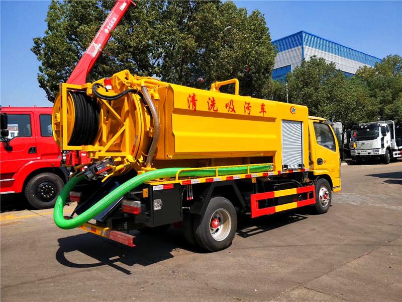 国六东风小型清洗吸污车