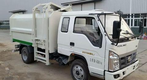 福田6方挂桶垃圾车(排半驾驶室)