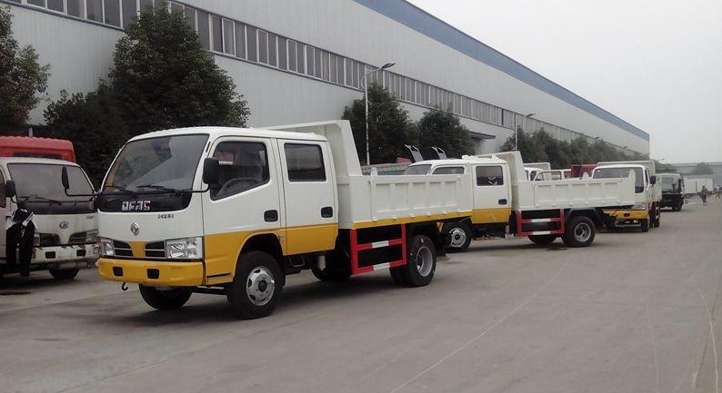 东风双排自卸式垃圾车