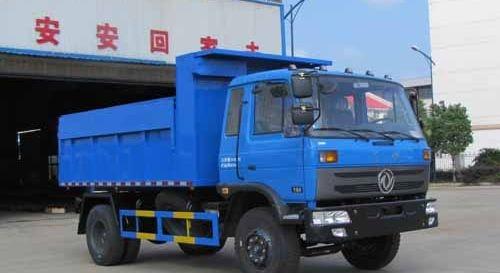 东风自卸式垃圾车(带翼展)