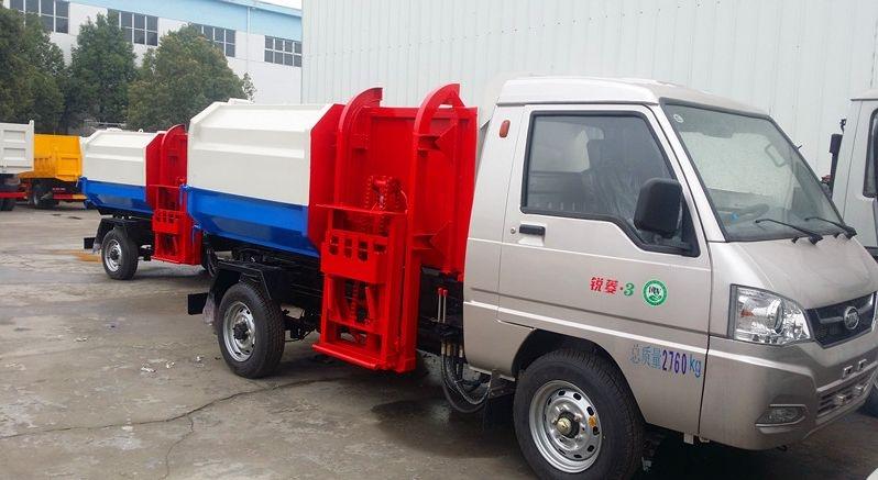 凯马3方挂桶垃圾车(汽油版)