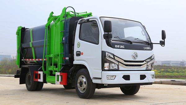 东风国六新式侧装式压缩垃圾车